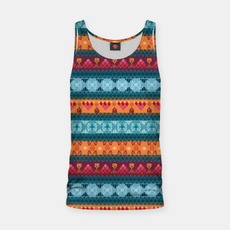 Thumbnail image of Tribal Pattern - 17 Laice Braid Tank Top, Live Heroes