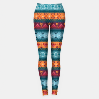 Thumbnail image of Tribal Pattern - 17 Laice Braid Leggings, Live Heroes