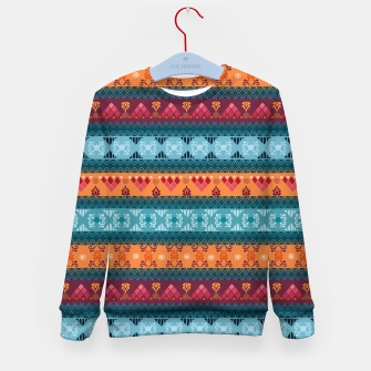 Thumbnail image of Tribal Pattern - 17 Laice Braid Kid's sweater, Live Heroes