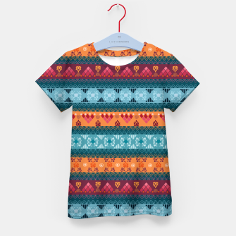 Thumbnail image of Tribal Pattern - 17 Laice Braid Kid's t-shirt, Live Heroes