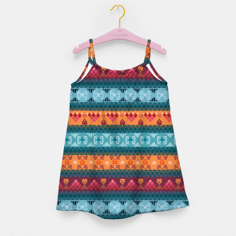 Thumbnail image of Tribal Pattern - 17 Laice Braid Girl's dress, Live Heroes
