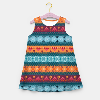 Thumbnail image of Tribal Pattern - 17 Laice Braid Girl's summer dress, Live Heroes