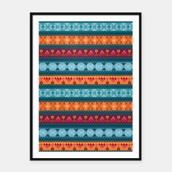 Thumbnail image of Tribal Pattern - 17 Laice Braid Framed poster, Live Heroes
