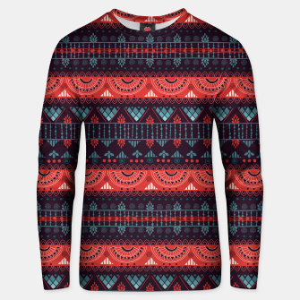 Thumbnail image of Tribal Pattern - 18 Harmony Violet Unisex sweater, Live Heroes