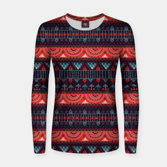 Thumbnail image of Tribal Pattern - 18 Harmony Violet Women sweater, Live Heroes