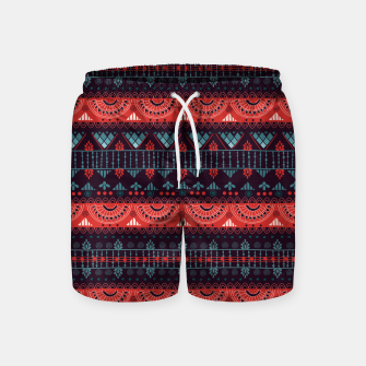 Thumbnail image of Tribal Pattern - 18 Harmony Violet Swim Shorts, Live Heroes