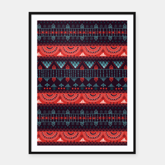 Thumbnail image of Tribal Pattern - 18 Harmony Violet Framed poster, Live Heroes
