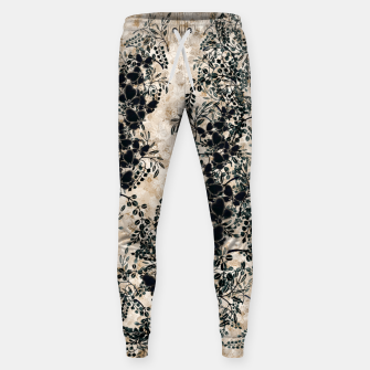 Thumbnail image of Japanese traditional family emblem art Flower and Butterfly white Sweatpants, Live Heroes