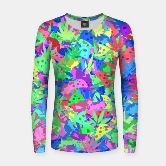 Thumbnail image of Pizza, weed and lazy cats Women sweater, Live Heroes