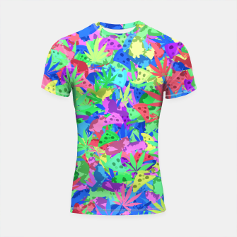 Pizza, weed and lazy cats Shortsleeve rashguard thumbnail image
