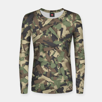 Thumbnail image of Forest alcohol camouflage Women sweater, Live Heroes