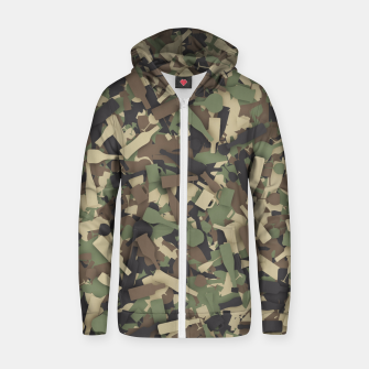 Thumbnail image of Forest alcohol camouflage Zip up hoodie, Live Heroes