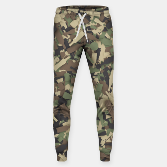 Thumbnail image of Forest alcohol camouflage Sweatpants, Live Heroes