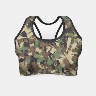 Miniatur Forest alcohol camouflage Crop Top, Live Heroes