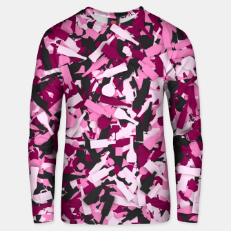 Miniatur Pink alcohol camouflage Unisex sweater, Live Heroes