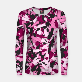 Miniatur Pink alcohol camouflage Women sweater, Live Heroes