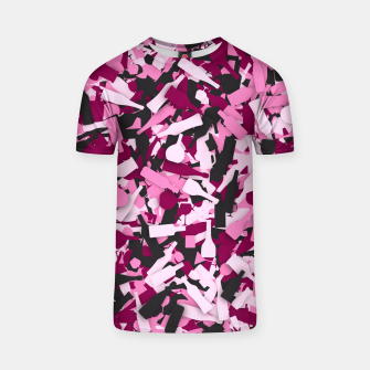 Miniatur Pink alcohol camouflage T-shirt, Live Heroes