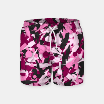 Miniatur Pink alcohol camouflage Swim Shorts, Live Heroes