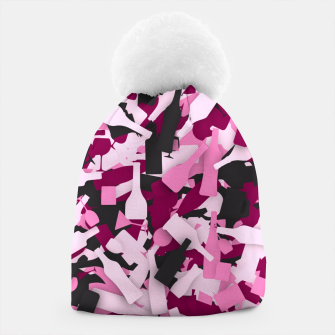 Miniatur Pink alcohol camouflage Beanie, Live Heroes