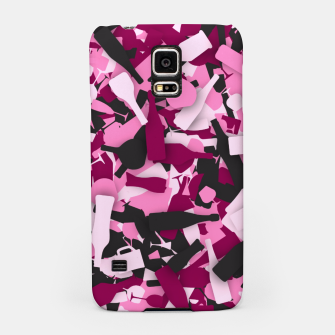 Miniatur Pink alcohol camouflage Samsung Case, Live Heroes