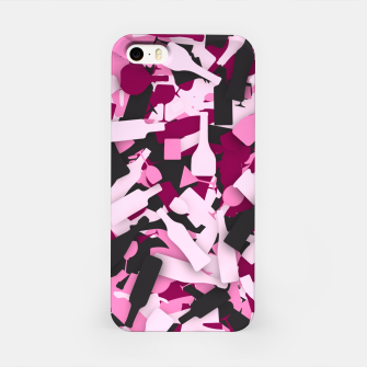 Miniatur Pink alcohol camouflage iPhone Case, Live Heroes