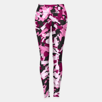 Miniatur Pink alcohol camouflage Leggings, Live Heroes