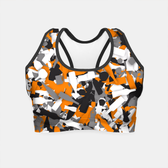 Thumbnail image of Urban alcohol camouflage Crop Top, Live Heroes