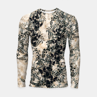 Thumbnail image of Japanese traditional family emblem art Flower and Butterfly white Longsleeve rashguard , Live Heroes