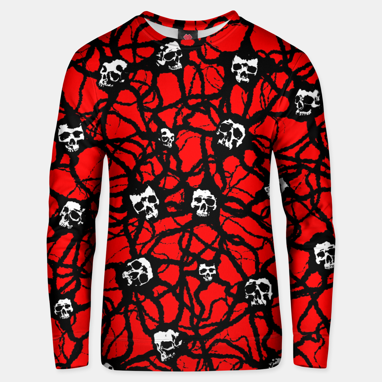 Image of Contagion Gothic Skulls Pattern Unisex sweater - Live Heroes