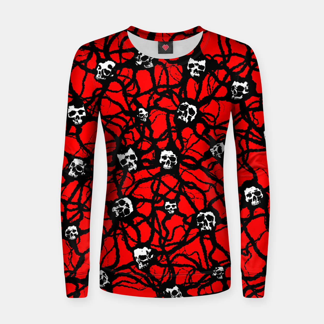 Foto Contagion Gothic Skulls Pattern Women sweater - Live Heroes