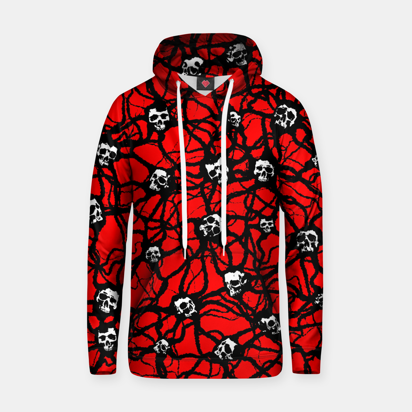 Image of Contagion Gothic Skulls Pattern Hoodie - Live Heroes