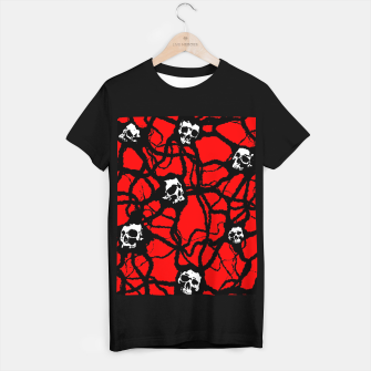Contagion Gothic Skulls Pattern T-shirt regular thumbnail image