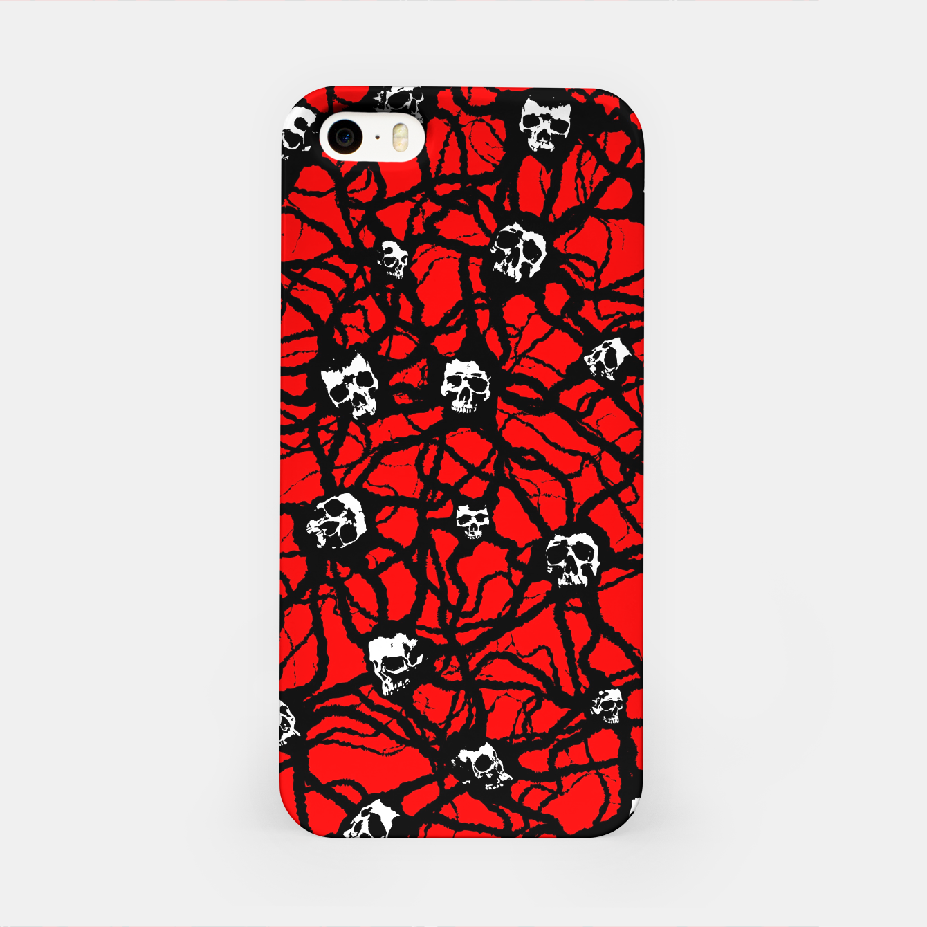 Image of Contagion Gothic Skulls Pattern iPhone Case - Live Heroes