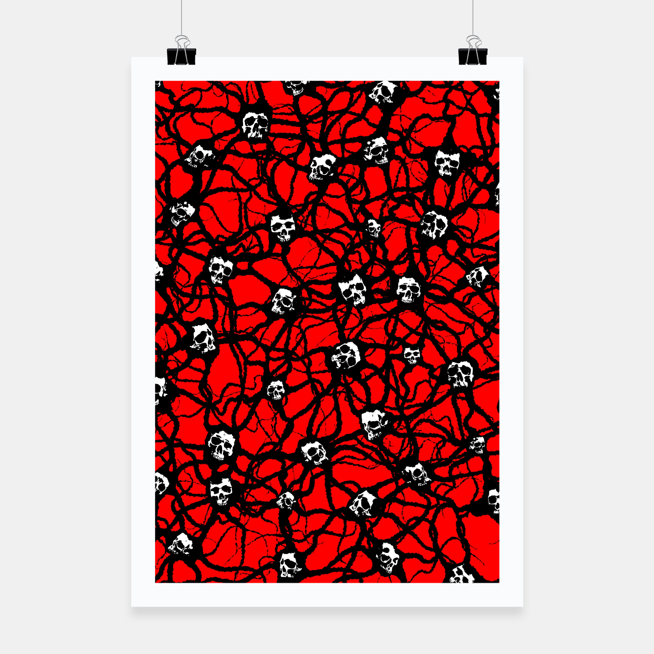 Image of Contagion Gothic Skulls Pattern Poster - Live Heroes