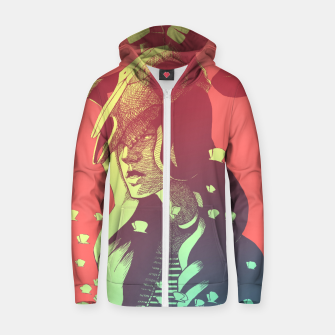 Miniatur Boho Chic Woman & Skull Zip up hoodie, Live Heroes