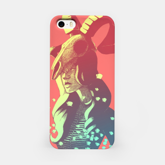 Miniatur Boho Chic Woman & Skull iPhone Case, Live Heroes