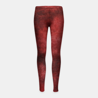 Thumbnail image of Red Clouds Girl's leggings, Live Heroes
