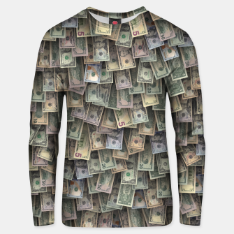 Miniatur US dollars all over cover Unisex sweater, Live Heroes