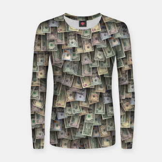 Miniatur US dollars all over cover Women sweater, Live Heroes