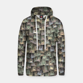 Miniatur US dollars all over cover Hoodie, Live Heroes