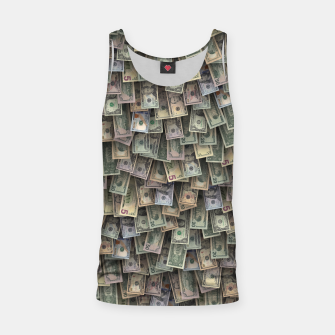Miniatur US dollars all over cover Tank Top, Live Heroes