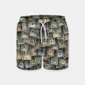 Miniatur US dollars all over cover Swim Shorts, Live Heroes