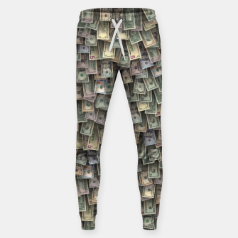 Miniatur US dollars all over cover Sweatpants, Live Heroes