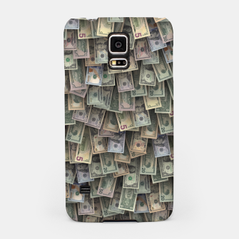 Miniatur US dollars all over cover Samsung Case, Live Heroes