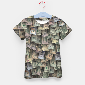 Miniatur US dollars all over cover Kid's t-shirt, Live Heroes