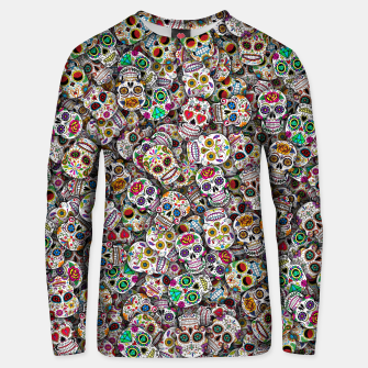 Thumbnail image of Mexican skulls Unisex sweater, Live Heroes