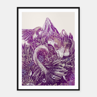 Thumbnail image of Peaceful Jungle Framed poster, Live Heroes