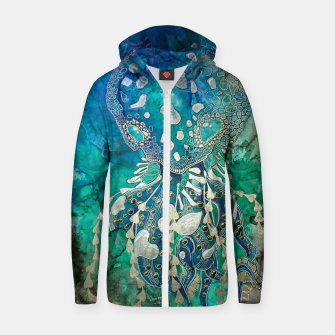 Thumbnail image of Space Jellyfish Zip up hoodie, Live Heroes
