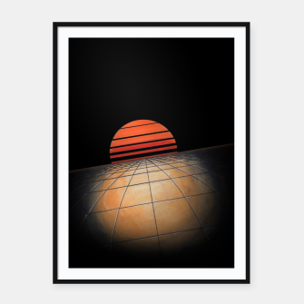 Thumbnail image of Sunset Grid Framed poster, Live Heroes