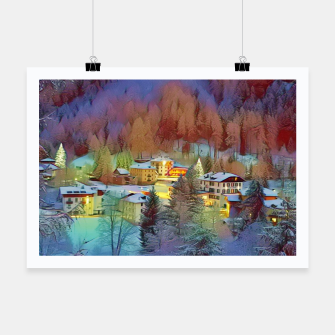 Thumbnail image of mountains in winter Plakat, Live Heroes